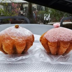 プルクル @代々木*桜クリームパン、ピスタチオクリームパン