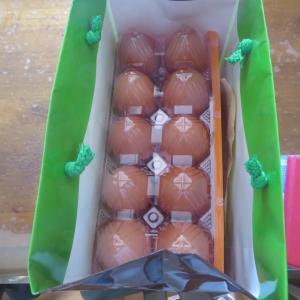 高級卵 30個 いただきました