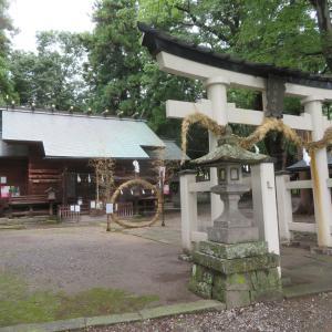 千曲市 治田神社 茅の輪もありました