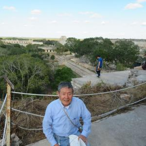 メキシコ ウシュマル グラン・ピラミッド 360度見渡せます