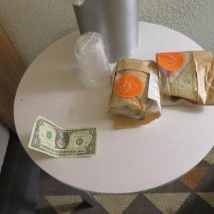 アメリカ ヒューストン 枕銭とくそまずかったサンドイッチ(メキシコにて購入)