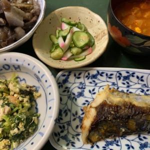 ミネストローネスープと和洋折衷のご飯 炒め白和えがオススメです