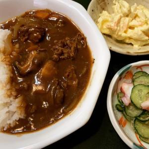 ハヤシライスの夕食