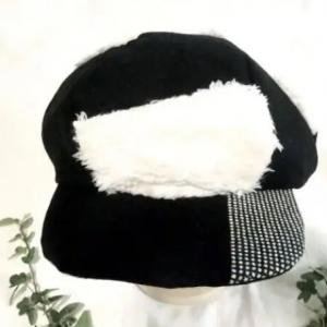 ☆★パンダちゃん的白黒お帽子キャスケット★☆