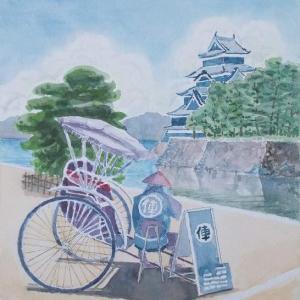 真夏の松本城