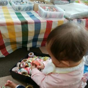 赤ちゃんはマスキングテープが好き
