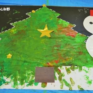 フィンガーペイントふじみ野でクリスマスツリーを作ろう
