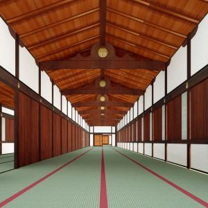 京都御所の御殿へ上がってみようシリーズ Vol.2 Twinmotionでレンダリングしてみた。