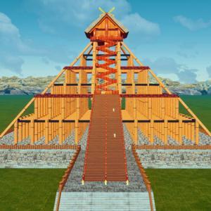 ショート3D 古代出雲大社神殿をTwinmotionで想像してみました。