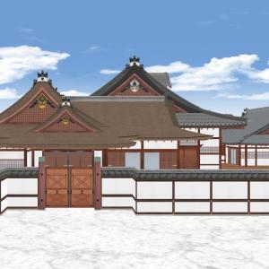 戦前まで残っていた京都御所の大台所廻りの3Dにチャレンジ! 第一期完結編