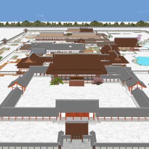 京都御所第一期3Dプロジェクトが完了、紫宸殿から飛香舎まで渡り廊下で繋がりました!