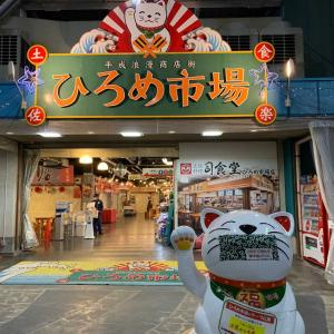 高知県『ひろめ市場』で塩タタキを(^o^)