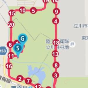 第6回東日本マスターズロードレースハーフ@昭和記念公園
