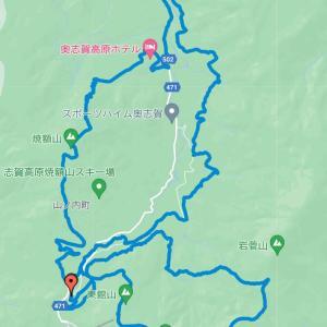 志賀高原マウンテントレイル:焼額ゲレンデ直登にへし折れる