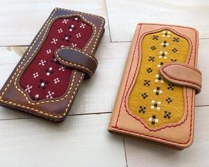 iphoneケース 織り張替えともう1台
