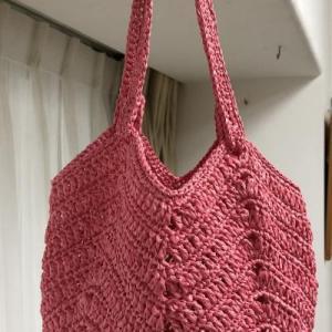 エコ アンダリヤで編むバッグ