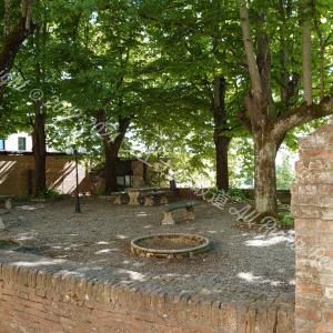 学生寮の中庭