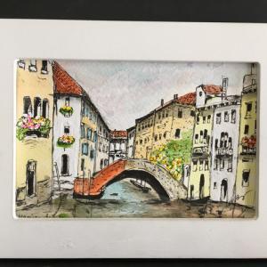 2019年269回 イタリア ヴェネチア リカルト橋の晩夏 10月9日描く