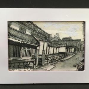 2019年282回 奈良  今井町の光と影 2  10月23日描く