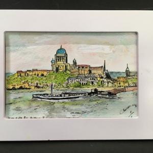 2019年281回 ハンガリー  エステルゴムの光景 2  10月22日描く