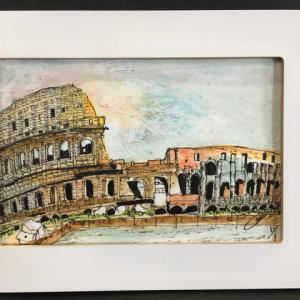 2019年292回 ローマ コロッセオの秋  11月2日描く