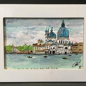 2019年319回 イタリア 11月14日 ヴェネチア サンタ・マリア・デッラ・サルーテ教会 12月8日描く