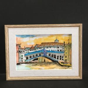 2020年第257回目    イタリア  ヴェネチア リカルト橋の夕 9月 9月16日