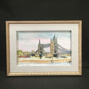 2021年第244回 ロンドン タワーブリッジ 9月1日 9月5日描く