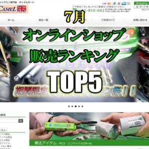 キャメル通販 7月販売ランキングTOP5 1位がまさかの!?