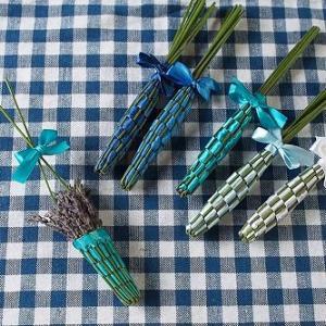 ラベンダースティックと花かごの作り方