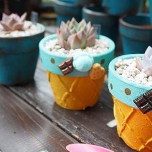 チョコミントなアイスリメ鉢をDIY
