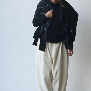 白椿手仕事塾  ちくちく手縫いで作る「冬の白もんぺパンツ」