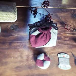白椿手仕事塾 小さな手仕事 「針山とお裁縫袋」