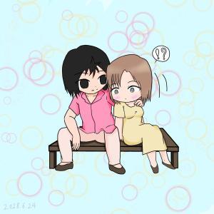 【忍空】SD橙次と舞【橙*夢主】