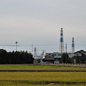 北陸電力・富山新港火力発電所とモーターパラグライダー(5)・・・射水市