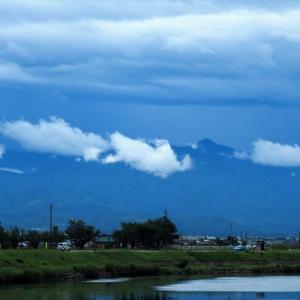 梅雨空続くが、白い雲や花々が気分を救う・・・富山市水橋、上市町