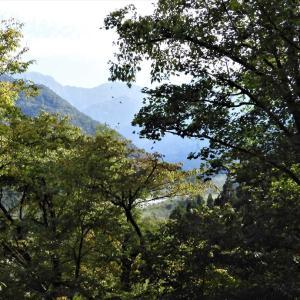 馬場島目ざして走る。しだいに黄葉が増え、剱岳・剱御前山が近づく(2)・・・上市町