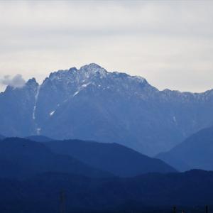 立山連峰が初冠雪(特報)・・・富山市水橋