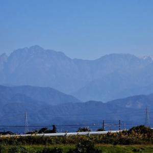 立山の冠雪はいったん消えたように見える・・・富山市水橋