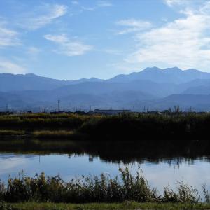 朝から晴れ、立山連峰の積雪を撮るのに絶好(1)・・・富山市水橋、立山町