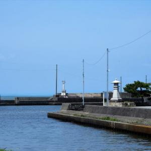 白岩川河口近く、運河の風景・・・富山市水橋
