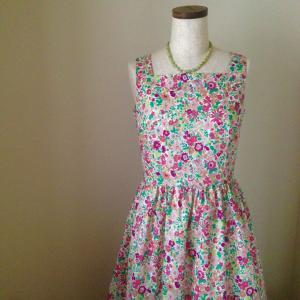 私の夏の大定番、リバティのサマードレスとオススメの裏地。