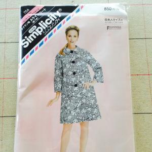 かわいい60年代風コートのパターンを発見!と、最近買った生地たち。