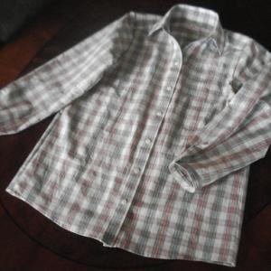浴衣 de 台襟長袖シャツ 1 ピンク