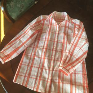 浴衣 de 台襟長袖シャツ 2 オレンジ