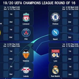 UEFAチャンピオンズリーグ 決勝トーナメント ファーストレグ