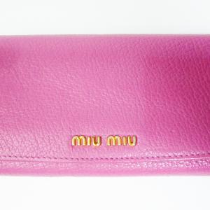 ミュウミュウ 二つ折り長財布