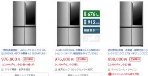 ヒロミが別荘用に購入した冷蔵庫が気になったので比較してみた。