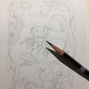 色鉛筆mix108 下描き