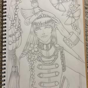 色鉛筆mix111 下描き